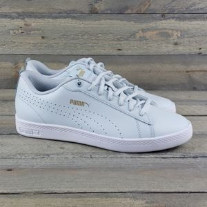 Puma Leather Womens Sneakers Light Blue New